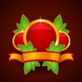 Pusty Czerwony grzebień z faborkiem Zdjęcia Royalty Free