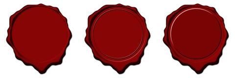 pusty czerwony pieczęć wosk Ilustracja Wektor