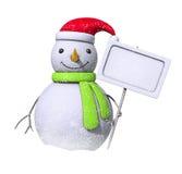 pusty deski śniegu bałwan Zdjęcia Royalty Free