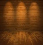 Pusty drewniany pokój Zdjęcie Royalty Free