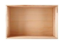 Pusty drewniany pudełko fotografia royalty free