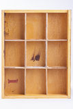 Pusty drewniany pudełko na białym tle Fotografia Royalty Free
