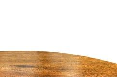 Pusty drewniany round stołowy wierzchołek odizolowywa na białym tle, Opuszcza sp obrazy stock