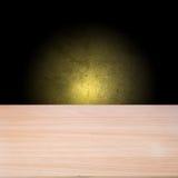 Pusty drewniany stół zdjęcia stock