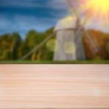 Pusty drewniany stół zdjęcie royalty free