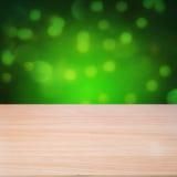 Pusty drewniany stół obrazy stock