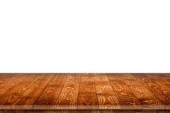 Pusty drewniany stół dla produktu plasowania Zdjęcia Royalty Free