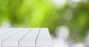 Pusty drewniany stołu kąt Fotografia Stock