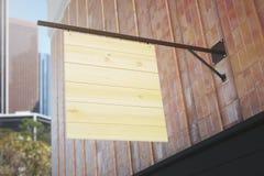 Pusty drewniany sztandar ilustracji