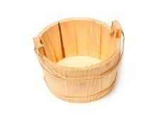 Pusty drewniany wiadro, kuchenny uthesis Obrazy Royalty Free