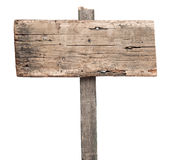 Pusty drewniany znak Obrazy Royalty Free