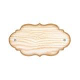 Pusty Drewniany Znak Odizolowywający na Biały Tle Fotografia Royalty Free