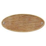 Pusty drewniany znak odizolowywający na bielu Zdjęcie Stock