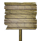 Pusty drewniany znak odizolowywający na bielu Obrazy Stock
