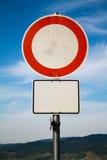 Pusty drogowy signboard dla twój znaka, pojęcie fotografia Obrazy Royalty Free