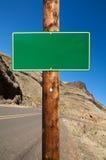 Pusty drogowy znak Zdjęcie Stock