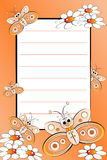 pusty dzieciak wykładająca notatnika strona Fotografia Royalty Free
