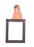 pusty dziecka ramy mienie Zdjęcie Stock