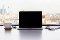 pusty ekran laptopa obrazy stock