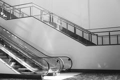 Pusty eskalator 3 i schodki Obrazy Royalty Free