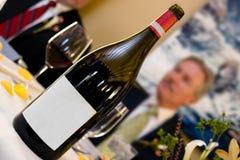 pusty etykiety wino Obrazy Stock