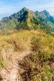 Pusty góra ślad Chang Puek góra, Kanchanaburi, Tajlandia Zdjęcia Royalty Free
