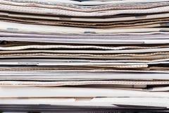 pusty gazety stosy na papierowej white Obraz Royalty Free