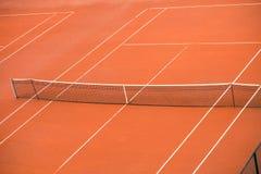 Pusty gliniany tenisowy sąd Zdjęcie Royalty Free
