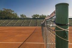Pusty gliniany tenisowy sąd Obrazy Royalty Free