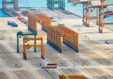 Pusty handlowy Singapur ładunku port obraz royalty free
