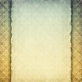 Pusty handmade papieru prześcieradło na wzorzystym tle Zdjęcie Royalty Free