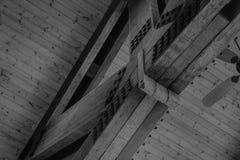 Pusty i Biały wieśniaka dach Kratownicowy Zdjęcie Stock