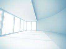 Pusty Izbowy Wewnętrzny Biały tło Obraz Stock