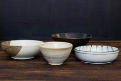 Pusty Japoński ceramiczny puchar zdjęcie royalty free
