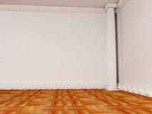 Pusty jaskrawy pokój z kolumną royalty ilustracja