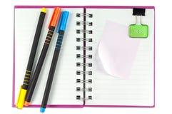 pusty jeden twarzy notatnika papierowy biel Fotografia Stock