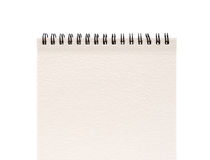 pusty jeden twarzy notatnika papierowy biel Fotografia Royalty Free
