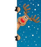 pusty jeleni mienia papieru Rudolph tekst twój ilustracja wektor