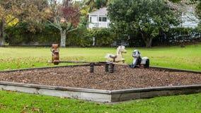 Pusty jesieni boisko Zdjęcia Royalty Free