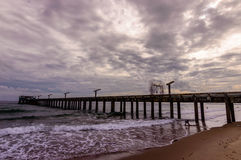 Pusty jetty na chmurnym dniu Obraz Stock