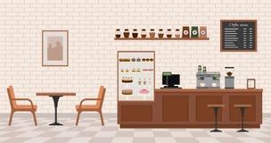 pusty kafejce wnętrze Zdjęcia Royalty Free