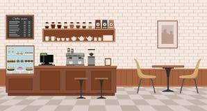 pusty kafejce wnętrze Zdjęcie Royalty Free