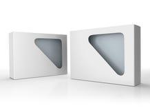 Pusty kartonu pudełka produkt z windowpane Obrazy Stock