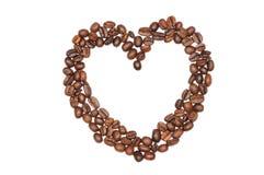 pusty kawy serce Obrazy Royalty Free