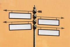 Pusty kierunkowy drogowych znaków metalu pointer Obraz Stock