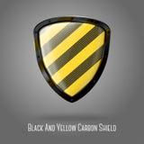 Pusty koloru żółtego i czerni ostrożności realistyczny glansowany royalty ilustracja