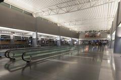Pusty korytarz przy d bramami McCarran w Las Vegas, NV dalej Obrazy Stock