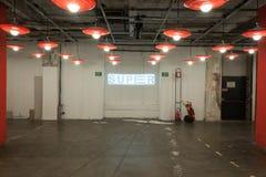 Pusty korytarz przy Mipap wystawą handlowa w Mediolan, Włochy Fotografia Stock