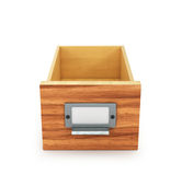 Pusty kreślarz dla falcówek i kartotek archiwizujący fotografia stock