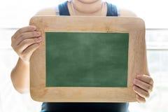Pusty Kredowej deski tło, puste miejsce/ Blackboard tło Blackboard tekstura zdjęcia royalty free